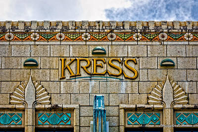 Photograph - Kress Building Detail by Christopher Holmes