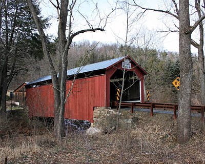 Photograph - Krickbaum Covered Bridge by George Jones