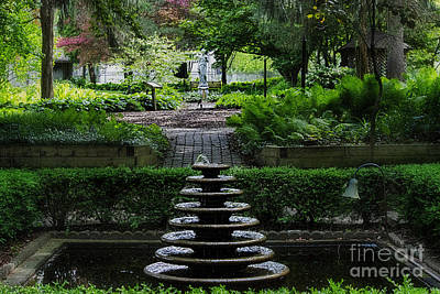 Photograph - Krider Garden Middlebury Indiana by David Arment