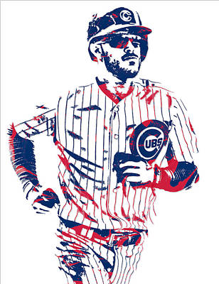 Mixed Media - Kris Bryant Chicago Cubs Pixel Art 11 by Joe Hamilton