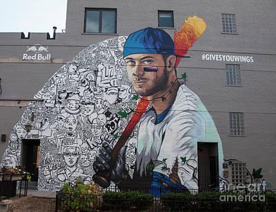 Kris Bryant Mural Art Print
