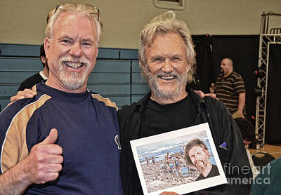 Photograph - Kris Kristofferson And Me  by Jim Fitzpatrick