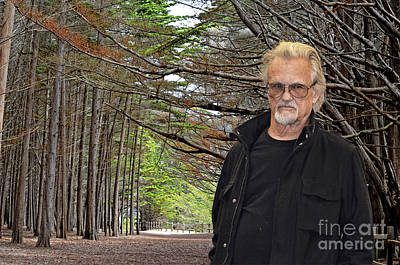Photograph - Kris Kristofferson In A Wooded Bluff II by Jim Fitzpatrick