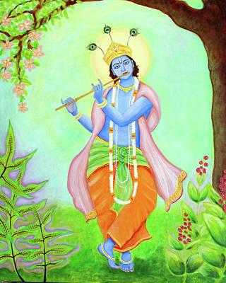 Hindu Art Painting - Krishna  by Clary Sage Moon