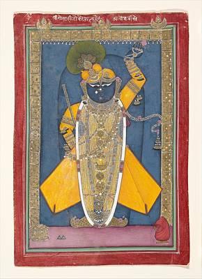 Shri Krishna Painting - Krishna In The Form Of Shri Nathji by Ca 1840