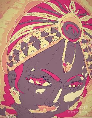 Krishna Portrait -- Vintage Version Art Print by Jayne Somogy