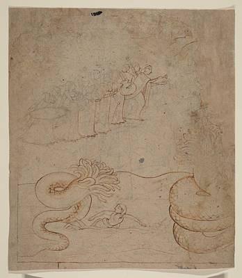 Krishna Subdues The Serpent Kaliya In The Yamuna River Illustration From A Bhagavata Purana Series Original