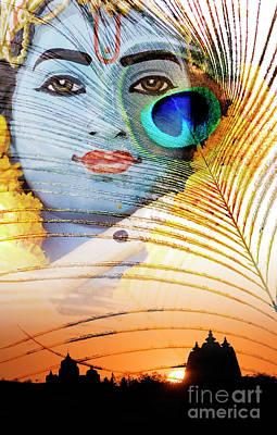 Ashram Wall Art - Photograph - Krishna Temple Sunrise by Tim Gainey