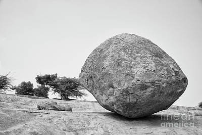 Photograph - Krishna's Butter Ball At Mahabalipuram by Kiran Joshi
