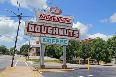 Photograph - Krispy Kreme Sign Day by Joseph C Hinson Photography