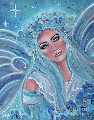Krista Frosty Fairy Print by Renee Lavoie