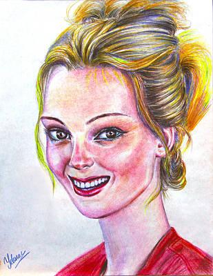 Kristen - American Art Print by Yelena Rubin