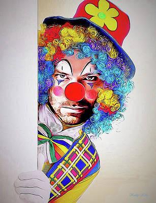 Kristoff The Creepy Clown Art Print