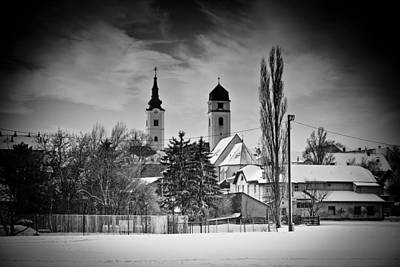 Photograph - Krizevci Winter Black And White View by Brch Photography