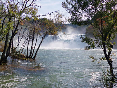 Photograph - Krka Falls In Autumn Spate by Phil Banks