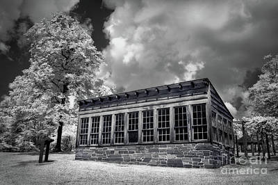 Art Print featuring the photograph Kron Greenhouse Morrow Mountain North Carolina Bw by Dan Carmichael