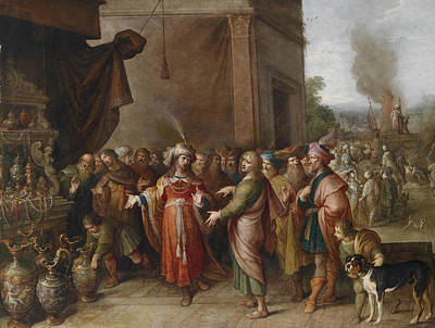 Painting - Kronsus Shows Solon His Treasures by Frans Francken the Younger