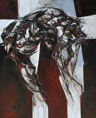 Abstracted Figuration Painting - Krst I by Mirjana Lucic