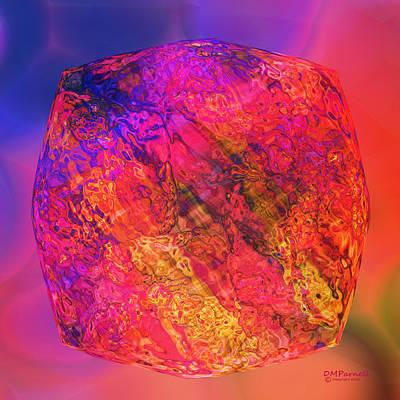 Fuschia Mixed Media - Kryptonite by Diane Parnell