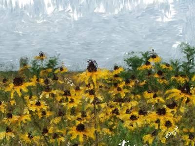 Painting - Krystallyn's Susans by Eddie Durrett