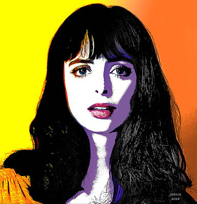 Digital Art - Krysten Pop Art by Greg Joens