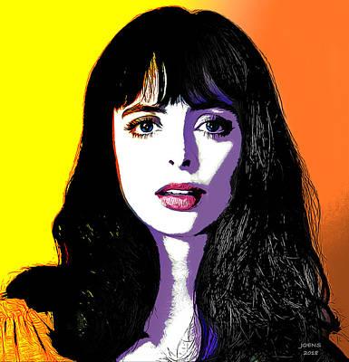 Digital Art - Krysten Pop Art by Greg Joens