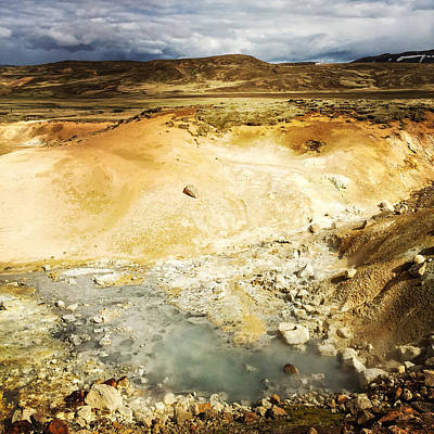 Landscapes Photograph - Krysuvik Geothermal Area Reykjanes Iceland by Matthias Hauser