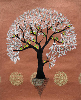Tree Roots Painting - Kasafvriksh by Sumit Mehndiratta