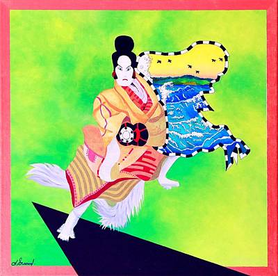 Painting - Kabuki Fancy Dancer by Thomas Gronowski