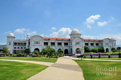 Photograph - Ktm Railway Colonial Train Station Building With Gardens Ipoh Malaysia by Imran Ahmed