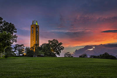 University Of Illinois Photograph - Ku Campanile by Thomas Zimmerman