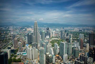 Tower Crane Photograph - Kuala Lumpur City by Anek Suwannaphoom