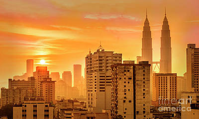 Photograph - Kuala Lumpur Twin Towers by Charuhas Images