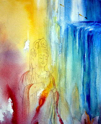 Painting - Kuan Yin by Wendy Wiese