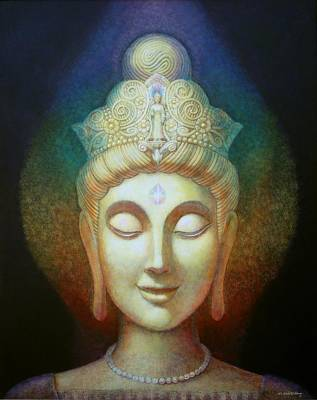 Kuan Yin's Light Print by Sue Halstenberg