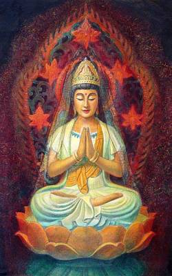 Painting - Kuan Yin's Prayer by Sue Halstenberg