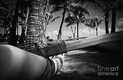 Photograph - Kuau Palm Trees Hawaiian Outrigger Canoe Paia Maui Hawaii by Sharon Mau