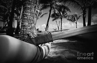 Photograph - Kuau Palm Trees Hawaiian Outrigger Canoe Paia Maui Hawaii by Sharon Mau