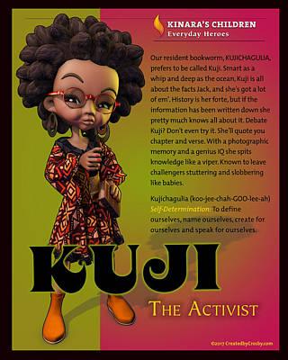 Wall Art - Digital Art - Kuji The Activist by Darryl Crosby