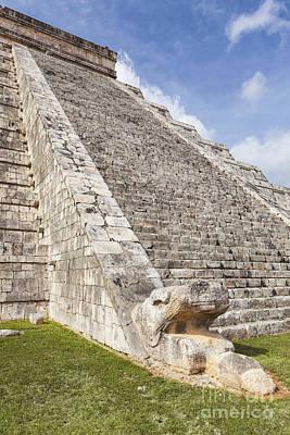 Kukulkan Pyramid At Chichen Itza Art Print