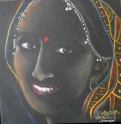 Kumkuma -- Close-up Portrait Of Indian Woman Art Print