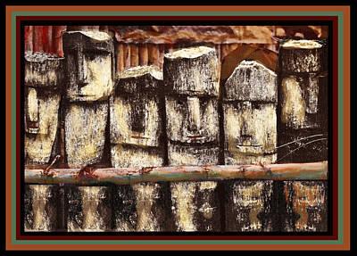 Digital Art - Kuna Indian Ancestral Fence by Vagabond Folk Art - Virginia Vivier