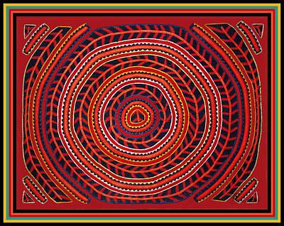 Digital Art - Kuna Indian Sun Universe by Vagabond Folk Art - Virginia Vivier