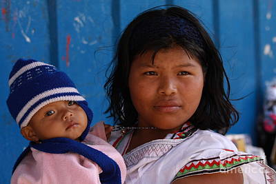 Photograph - Kuna Mother And Child In Panama by Tatiana Travelways