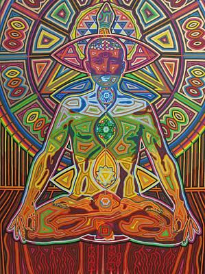 Sri Yantra Painting - Kundalini - 2010  by Markus  Meier