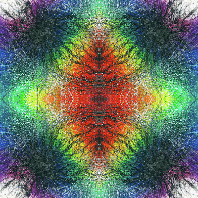 Orlando Magic Mixed Media - Kundalini Awakening #1554 by Rainbow Artist Orlando L aka Kevin Orlando Lau