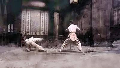 Street Painting - Kung Fu 10 by Jani Heinonen