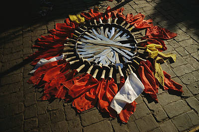 Shaolin Photograph - Kung Fu Swords With Colored Flags, Used by Justin Guariglia