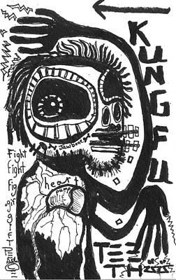 Kung Fu Drawing - Kung Fu Teeth by Robert Wolverton Jr