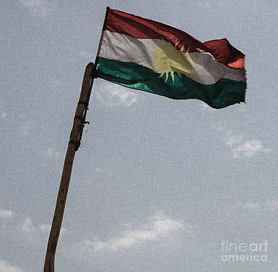Painting - Kurdish Flag by Celestial Images